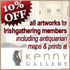 10% Off alll Artworks for IrishGathering Members including antiquarian maps and prints at Kenny Gallery